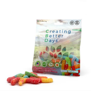 Creating Better Days Cbd Sour Worms 150 Mg