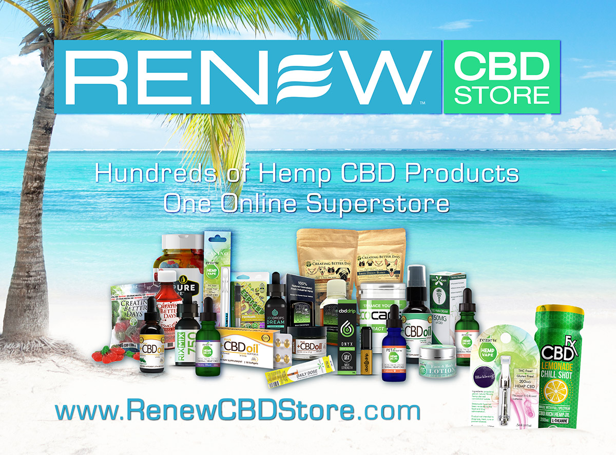Welcome to the Renew hemp CBD superstore with hundreds of CBD products for online retail and wholesale.