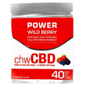 Bioremedies Cbd Power Chewing Gum 40mg