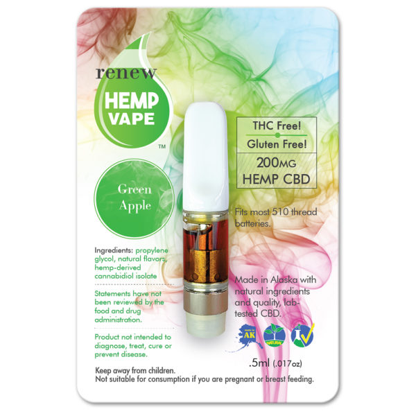 Renew Cbd Glass Top With Natural Green Apple Flavor