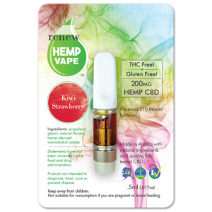 Renew Cbd Glass Top With Natural Kiwi Strawberry Flavor